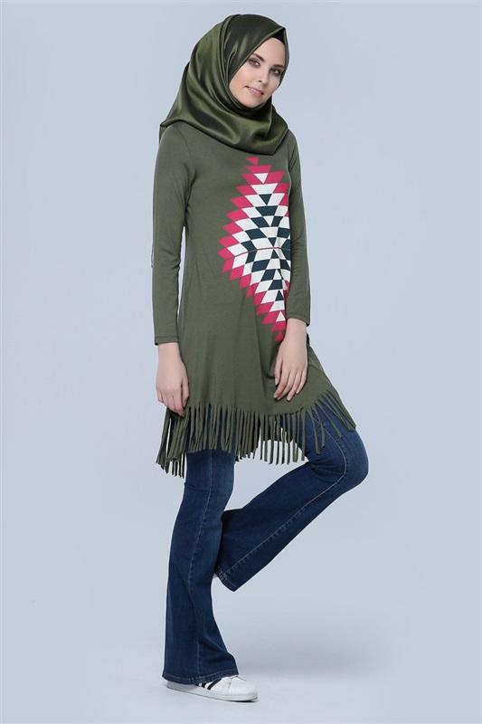 صورة تونيكات محجبات , لبس طويل للمحجبات