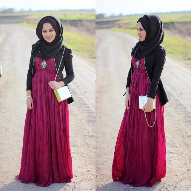 بالصور ملابس خروج للبنات المحجبات , موديلات حديثه لملابس الخروج للفتاة المحجبه 6566 5