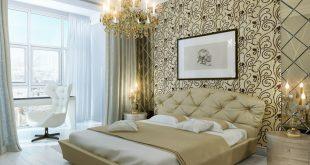 صوره ورق جدران غرف نوم , احدث ديكورات غرف النوم بورق الجدران
