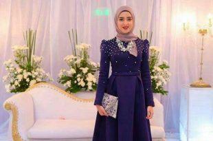 صور فساتين سواريه 2019 للمحجبات , اجمل الفساتين