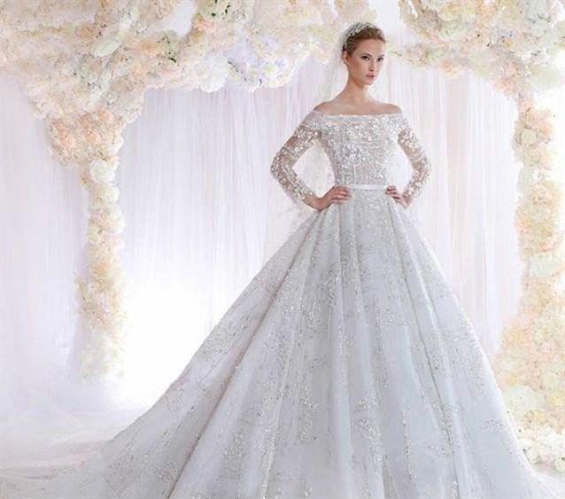 بالصور صور بدلات اعراس , فستان زفاف لا يقاوم جماله 125 11