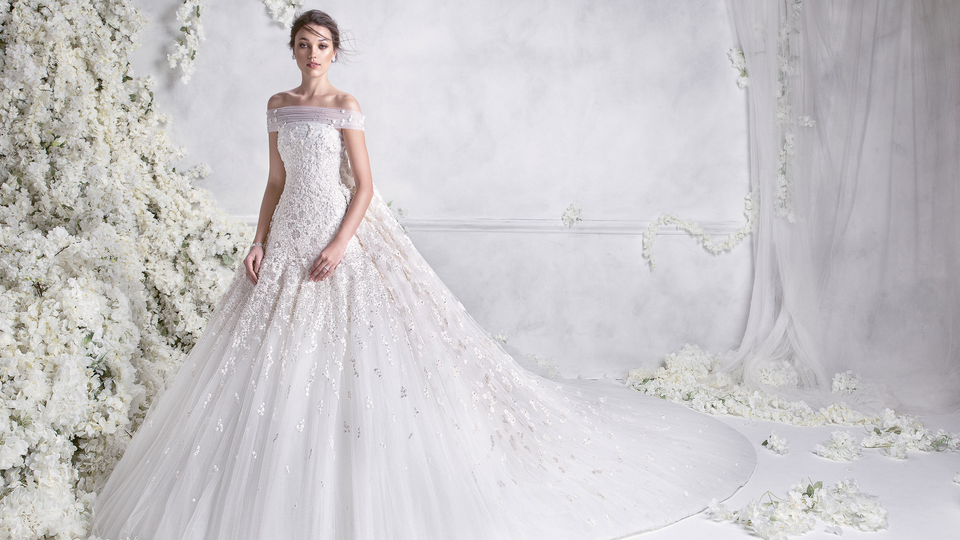 بالصور صور بدلات اعراس , فستان زفاف لا يقاوم جماله 125 9