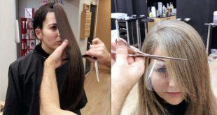 صوره كيفية قص الشعر , طريقة قص الشعر بسهوله