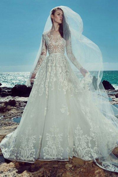 بالصور احدث فساتين الزفاف , اروع تشكيله فساتين الزفاف 2586 5
