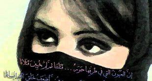 صورة ان العيون التي في طرفها حور , كلمات رائعه معبرة من قصيدة ان العيون التي في طرفها حور