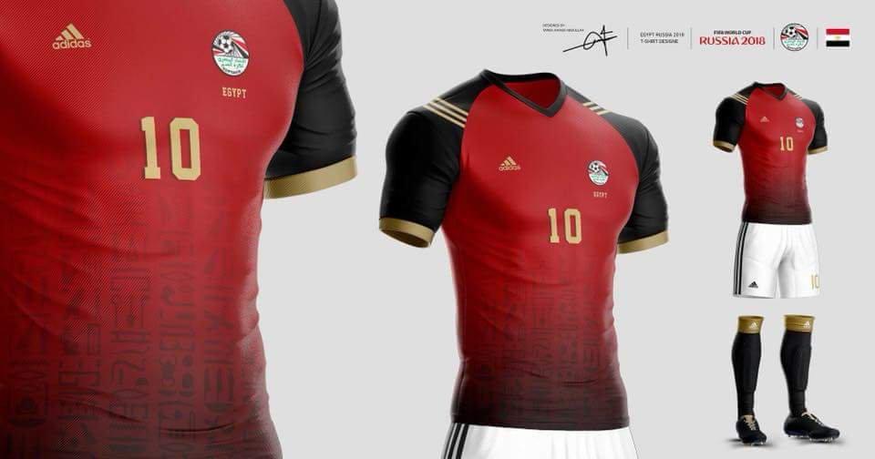 بالصور تيشرت منتخب مصر , احدث تصميم التيشرت الجديد لمصر 260 10