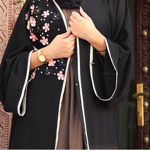 صورة عبايات كويتية , اجمل عبايات رائعة للفتيات 438 5