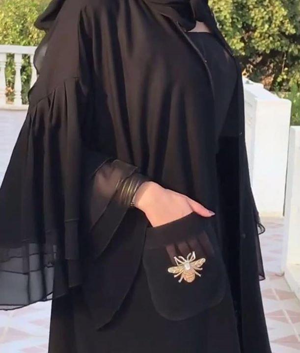 صورة عبايات كويتية , اجمل عبايات رائعة للفتيات 438