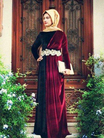بالصور فستان مخمل , اشيك الفساتين لاجمل الفتيات 4790 14