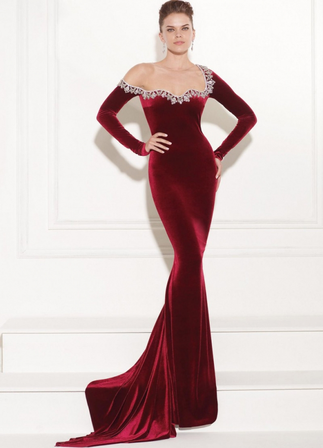 بالصور فستان مخمل , اشيك الفساتين لاجمل الفتيات 4790 16