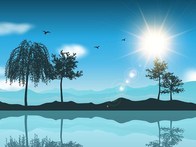 صور رسم منظر طبيعي باليد , اظهر موهبتك برسم اجمل لوحات المناظر الطبيعيه