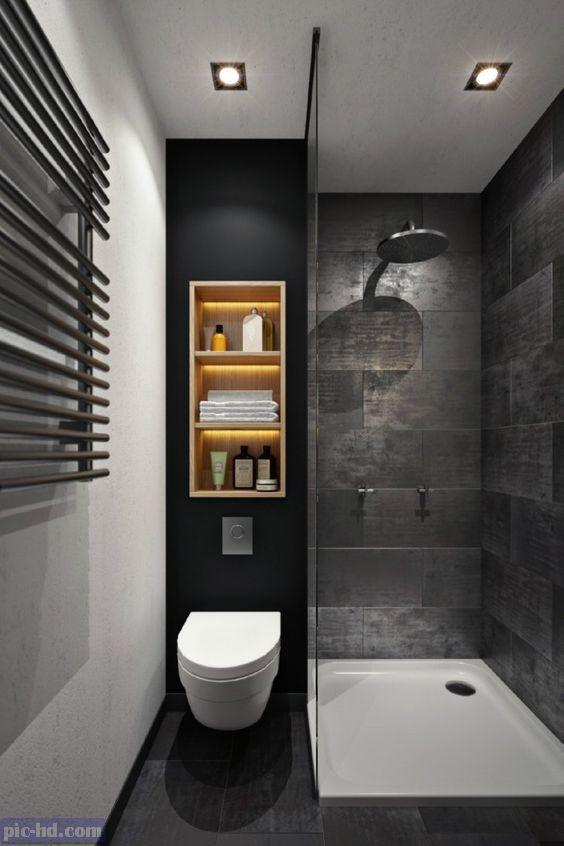 حمامات صغيرة ديكورات روعة تستغل الاماكن الضيق