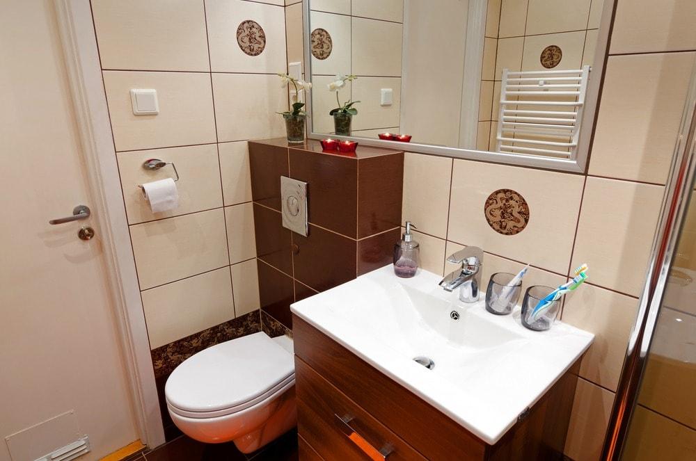 بالصور حمامات صغيرة , ديكورات روعة تستغل الاماكن الضيق 541 7