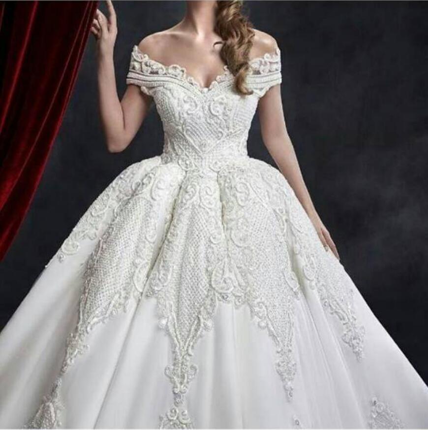 بالصور صور بدلات اعراس , فستان زفاف لا يقاوم جماله 125 1