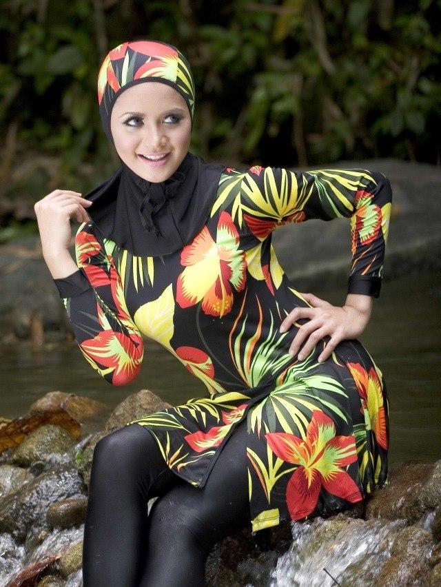 بالصور مايوه اسلامي , افضل ملابس للمصيف للمحجبات 180 8