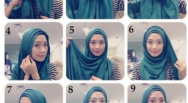 صور طرق لف الحجاب بالخطوات , لفات طرح جديدة وعصرية