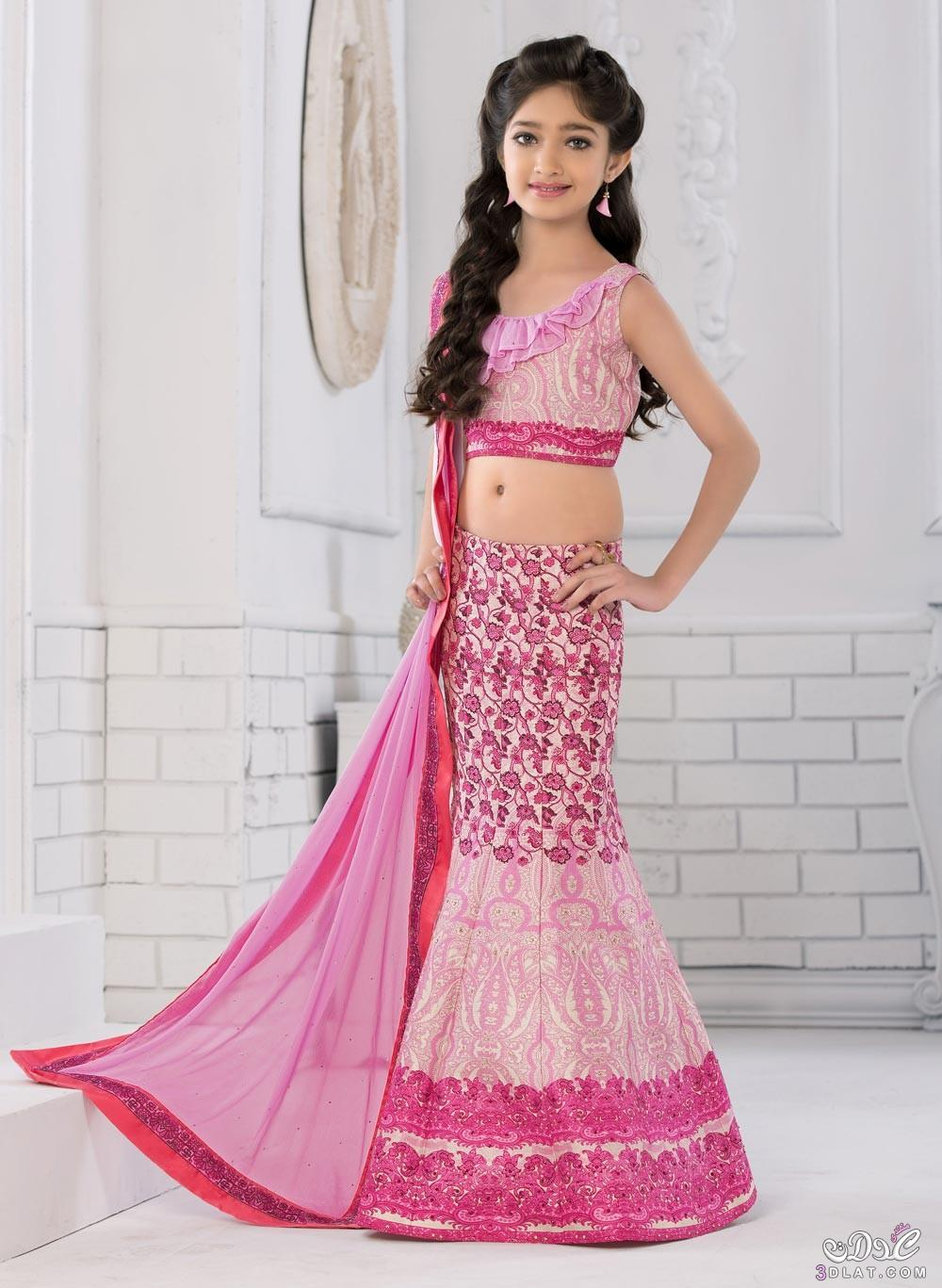 صورة صور ساري هندي للاطفال , ملابس هندية طفولية